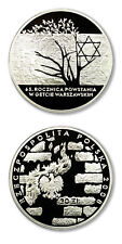 Poland Warsaw Ghetto 20 Zlotych 2008 Proof Silver Crown