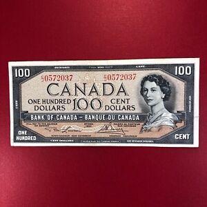 1954 Canada  Lawson / Bouey  100  Dollar Bill Banknote Circulated