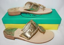 Jack Rogers Hamptons Navajo Women's Sandals Gold New With Box!