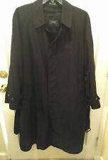 Lauren Ralph Lauren Mens black trench coat 44R Excellent