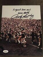 Rudy Ruettiger Autograph 8x10 Signed Photo w/ JSA COA Notre Dame, Inscribed