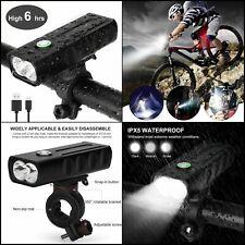 Éclairage Vélo Rechargeable, Lampe Avant USB LED 1000LM,3 Modes Luminosité VTT