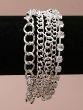 chain row and crystals 5 row bracelet new
