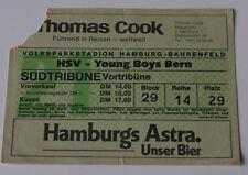 old TICKET UEFA HSV Hamburg Germany - Young Boys Bern Switzerland Suisse 1975