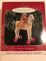 Hallmark Keepsake Ornament A Pony For Christmas 1999