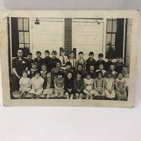 Vintage 1950's Photo School Children Class Posed Yearly Portrait