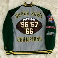 Green Bay Packers NFL XXXI Super Bowl Champions Varsity Jacket Size L