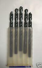 """3/8"""" Drill Bit Black Oxide Chip Breaker Point 5pk KBT"""