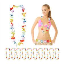 12 Stk Hawaiiketten Motto-Party Deko-Set Karneval Hula JGA Blumenketten rot 17
