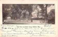Medford Massachusetts High Street Public Library Antique Postcard K82470
