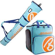BRUBAKER 'Super Champion' Kombi Stiefeltasche + Skisack 190cm Hellblau Orange