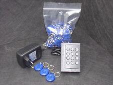 Zutrittskontrolle Code+RFID + Netzteil + 50 blaue Transponder-Schlüsselanhänger