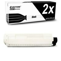 2x Eurotone Cartridge Black for Oki ES-8461-MFP ES-8451-CDTN ES-8451-plus
