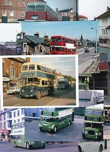 COL PHOTO: PACK OF 10 ASSORTED DOUBLE DECKER BUS PHOTOS