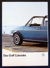VOLKSWAGEN GOLF CABRIOLET SALES BROCHURE 1987 (GERMAN).