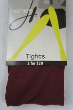 Hanes Tights Sz Tall T Port Red Seasonless Control Top Footed Tight 0B407