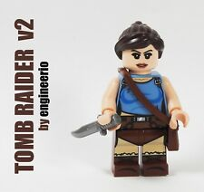 LEGO Custom - Lara Croft Tomb Raider Classic v2 - super hero minifigures marvel