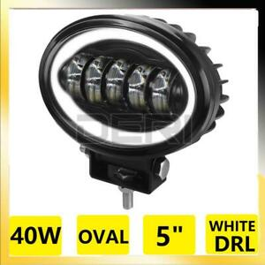 1PC 5 Inch Oval Led Work Light Angel Eye Daytime Running Lamps 4x4 Offroad Car
