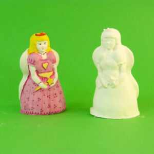 Plaster of Paris Candle Latex Rubber Mould  Fairy Princess ( 8.5cm high)   Craft