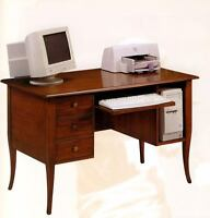 Desk 1156 IN Tulipwood Finished Walnut CMS 130x75x81H