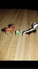 Vintage Miniature Porcelain Figures Horse - Skunk (Badger) - Worm