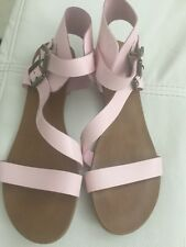 New Look Pink Strapped Sandals Size7 VGC