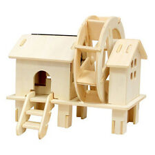 LIEOMO Solar Power Energy Windmill mill Wooden Puzzle Toy Gift 3D