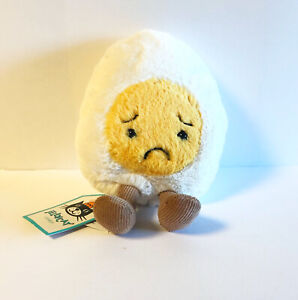 Jellycat Sorry Boiled Egg Food Plush, Small, Gift, Cute Funny Appease Soft