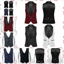 Men Slim Fit Suit Vest Male Waistcoat Casual Business Sleeveless Formal Vest
