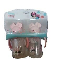 Disney Baby Minnie Mouse Straw Sippers, 2 Pack 6oz Bottle