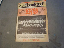 Liverpool Football Pre-Season Fixture Programmes (1980s)