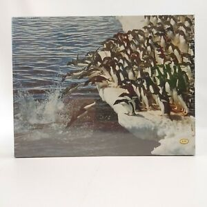 Vintage PENGUIN PLUNGE Jigsaw Puzzle by Springbok 500 pc. NEW Sealed