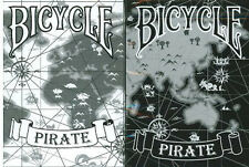 Bicycle Pirate Playing Cards 2 Deck Set 1 Black & 1  by Eric Duan & Honey Zhang