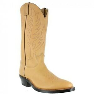 Justin 1122 Men's Natural Mulehide Cowboy Western Dress Boots