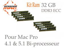  Mémoire 32 GB (8x 4GB) DDR3 ECC 1333 Mhz > Mac Pro 4.1 5.1 2009 2010 ou 2012