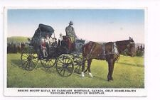 CANADA Quebec antique db post card Seeing Mt. Royal by Carriage