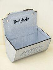 """schöner alter Emaillebehälter """"Zwiebeln"""", Küche Kult Retro emaille,"""