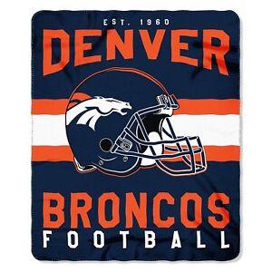 Denver Broncos NEW Licensed Fleece Throw Blanket Football Team 50'' X 60''