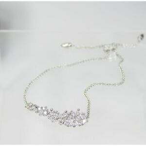 Kendra Scott Nolan Rhodium Cascade CZ Bridal Wedding Chain Bracelet NWT
