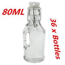 36 x Mini Small Glass Clip Jars Handle 80ml Wedding Favors Lolly Jar Bottle FWWW