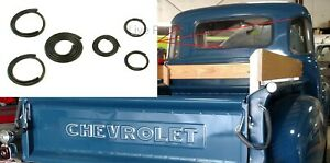 Back/Corner Glass Gasket Rubber Seals for 1947-54 Chevy/GMC Truck 5 Window