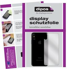 2x Apple iPhone X 10 Rückseite Schutzfolie klar Displayschutzfolie Folie Hinten
