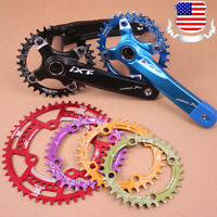 104bcd 30-52t Crankset Crank set Narrow Wide Round Oval MTB Bike Chainring ring
