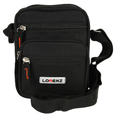 Lorenz Multi Purpose Black Polyester Mini Shoulder Organiser Gadget Bag