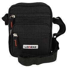 Lorenz Multi Purpose Black Polyester Mini Shoulder Organiser Gadget Bag