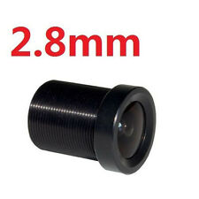 "2.8mm Wide Angle Lens Fixed CCTV IR Board 115° Degrees for 1/3"" and 1/4"" Camera"