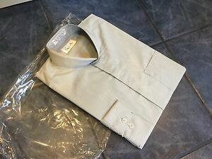 MENS CHEF WORKS CW SILVER GREY SHIRT WITH GRANAD COLLAR M 15-15.5 NECK CATERING