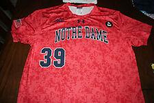 Notre Dame Game Used Worn Orange ALS Baseball Jersey #39 Irish 2015 Large