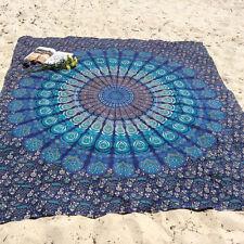 Mandala Tapestry Hippie Wall Hanging Blue Twin Bohemian Bedspread Dorm Decor Art