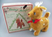 VTG 1983 Music Playing Reindeer in Original Box *Partially Works* YORK PA. GUC